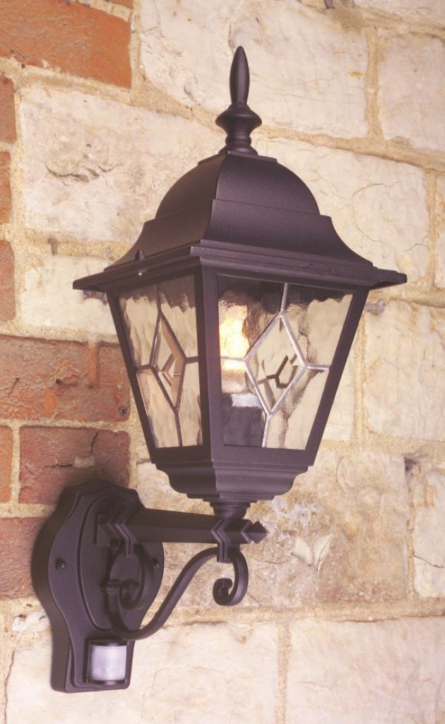 Norfolk 1 Light Outdoor Wall Light PIR Sensor: Yes Elstead Lighting NR1/PIR