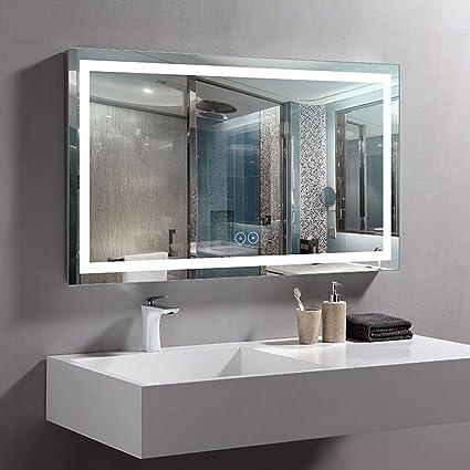 Amazon Com Decoraport 40 X 24 In Horizontal Led Bathroom Mirror