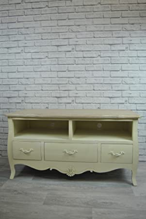 Four Seasons Tv Cabinet Shabby Chic French Cream Ornate Large