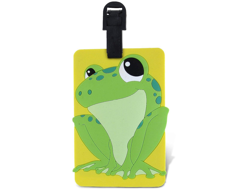 Puzzled taggage 。Frog荷物タグ3.5 X 5インチ B00SUAG0HY