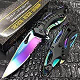 Tac-Force Spring Assisted Rainbow Blade Tactical Rescue...