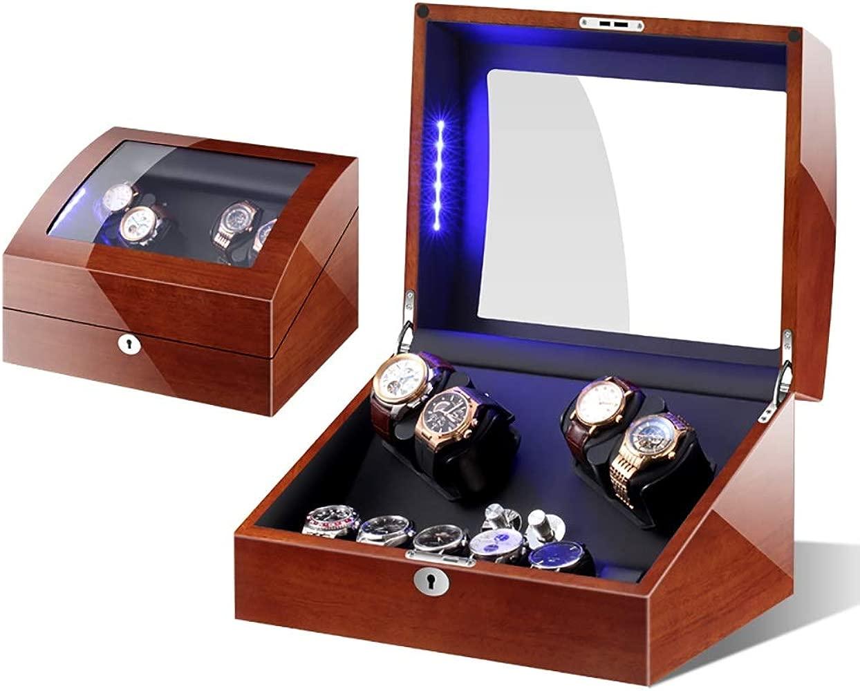 Watch Winder Automático Watch Winder Box Luxury Wooden para ...