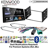 Volunteer Audio Kenwood DMX7704S Double Din Radio Install Kit with Apple CarPlay Android Auto Bluetooth Fits 1995-1997 Ford Explorer, Ford Ranger, Lincoln Town Car