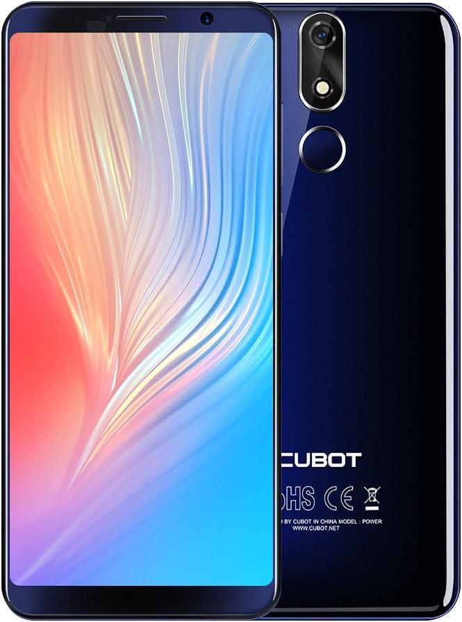 CUBOT Power 4G Smartphone Libre baratas 5.99 pulgadas Dual Sim 6 GB RMA + 128 GB ROM Teléfonos Móviles Libres Android 8.1 Battery 6000mAH Rear Camera 16.0MP (Azul): Amazon.es: Electrónica