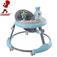 COOLBABY MULTIFUNCTIONAL Baby Walker Adjustable Toddler Walking Assistant Standing Up and Walking Learning Helper for Baby Safety Walking Harness Walker Color Blue