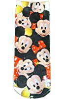 Disney Mickey and Minnie Mouse Girls Character Socks (Shoe Size 13-9)