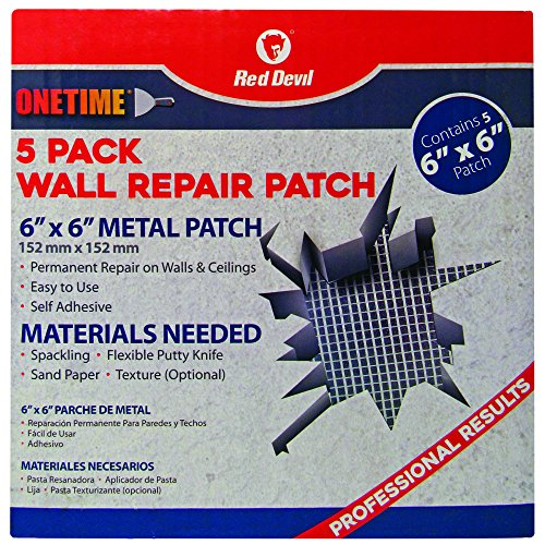 Red Devil 1212 6' x 6' Wall patches, Pack of 5