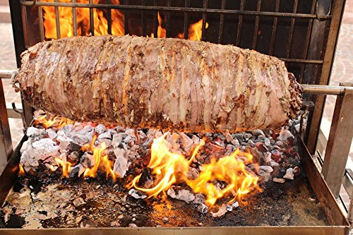 Home Comforts Peel-n-Stick Poster of Spit Grill Lamb Barbecue Cag Kebab Food Nutrition Poster 24x16 Adhesive Sticker Poster Print