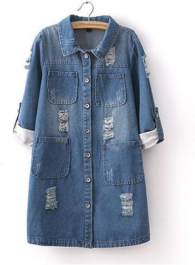 Brittany-Breanna denim-jackets Chaqueta Vaquera Bordada para Mujer con diseño de Flores - - 3X-Large: Amazon.es: Ropa y accesorios
