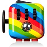 Pachock Rainbow Fidget Toy Cube Toy with Click Ball, Anti-anxiety Anti-Stress Fidget Toys for Children, Teen, Adult Stress Reliever