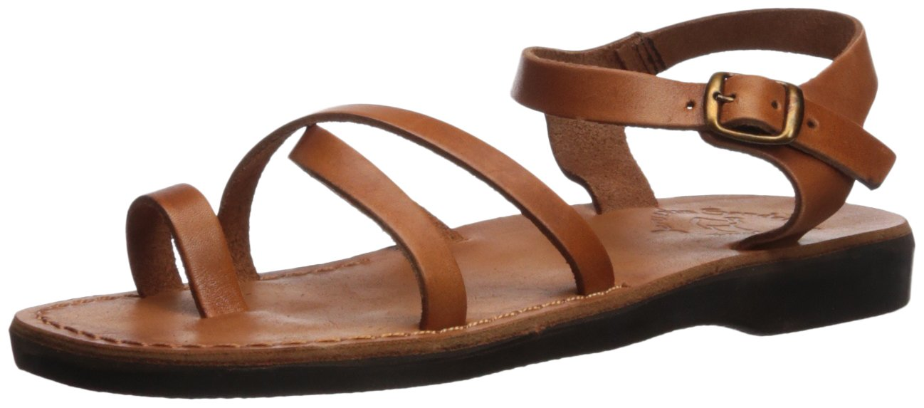Jerusalem Sandals Women's Ava Sandal B075KYCTTV 39 Medium EU (8-8.5 US)|Honey