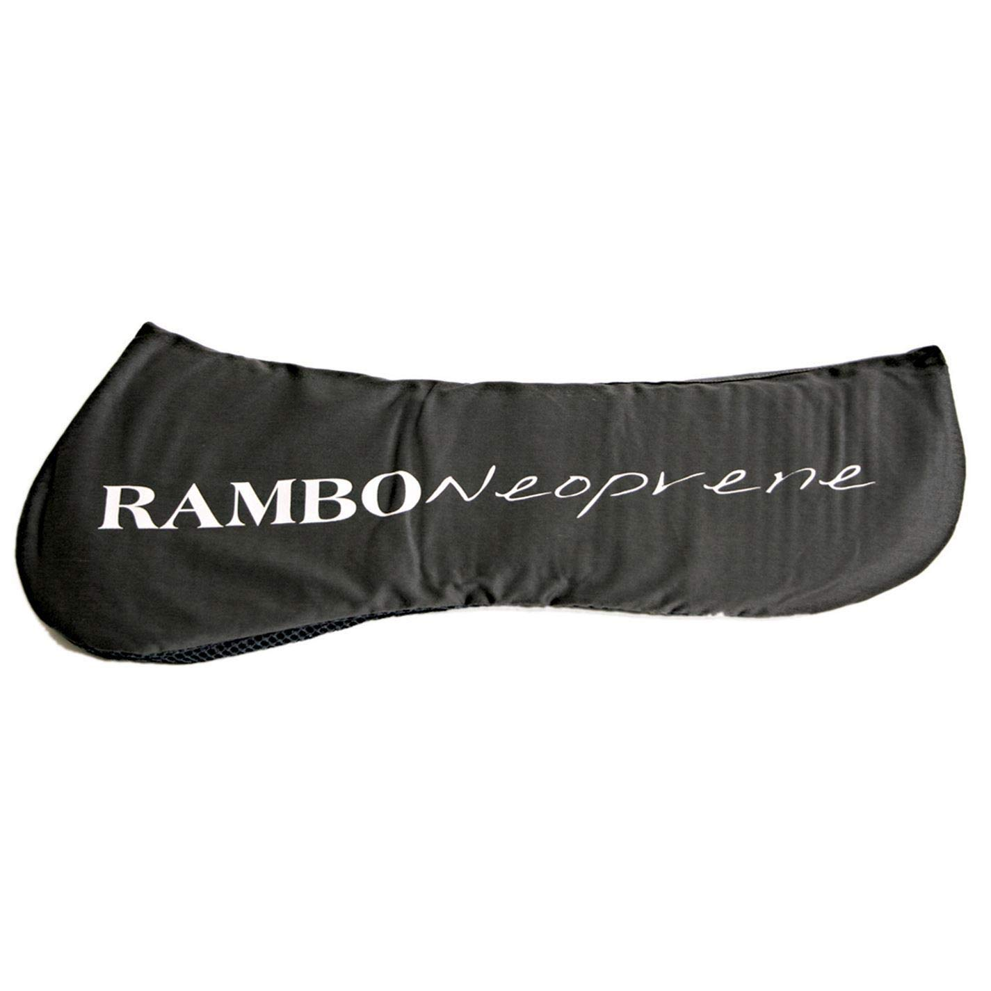 Black Full Black Full Rambo Neoprene Half Saddle Pad Numnah Cloth Horse Riding Tack