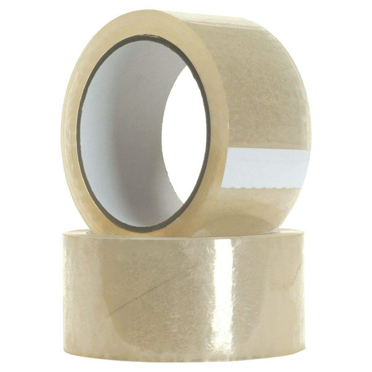 48mm x 66m High Tack Clear Parcel Packaging Tape Sellotape Strong Big Rolls