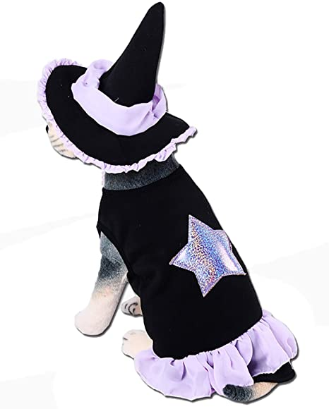 qwesl Disfraz de hechicero de Halloween para Mascotas Material ...