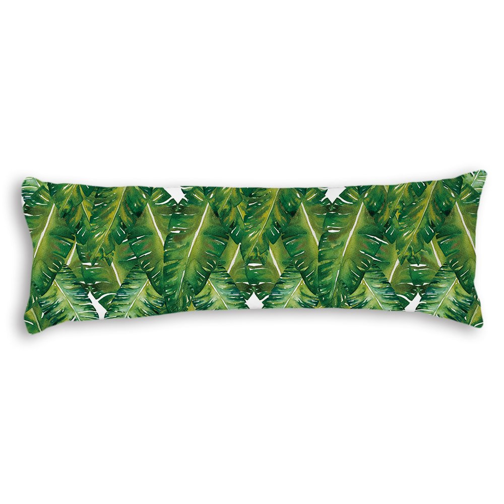 DYLM YES Exotic Pattern With Tropical Leaves Cotton Body Pillow Cover Cases Square 20 x 54 Inches for Bed