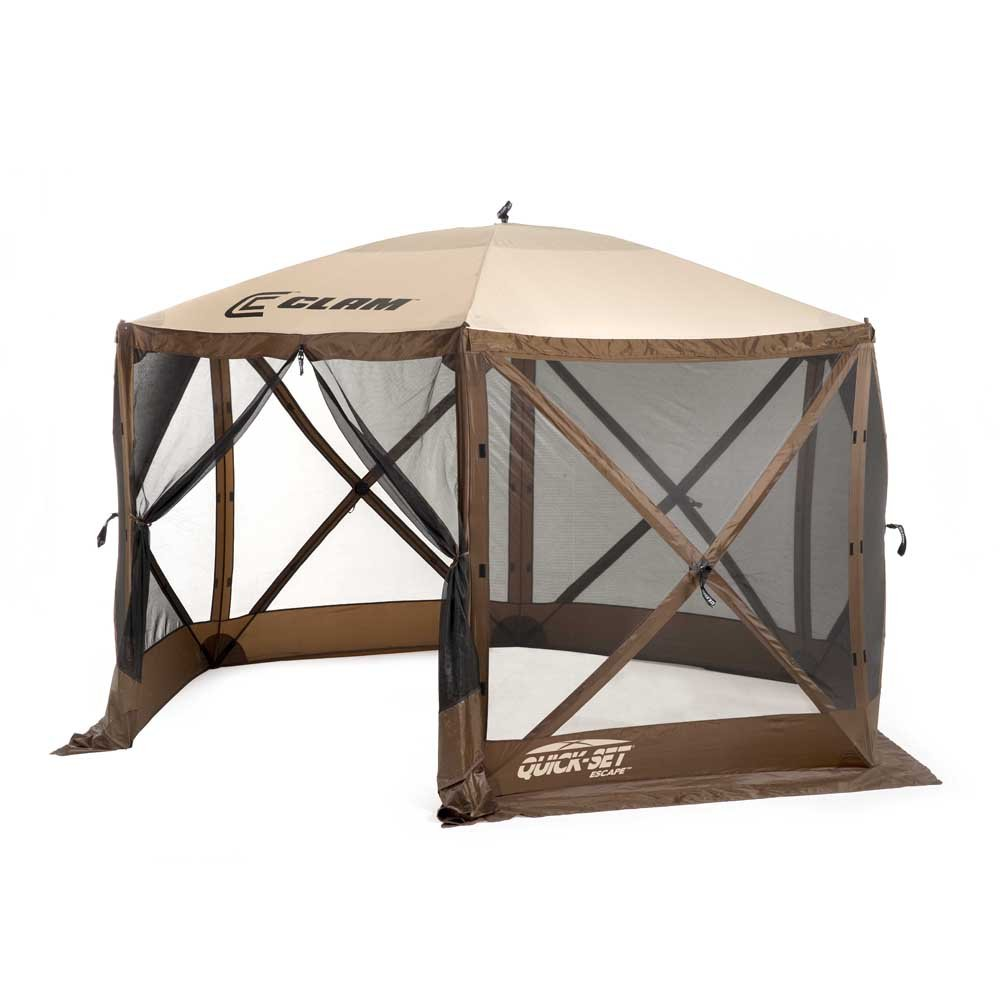 Amazon.com  Clam Corporation 9879 Quick-Set Escape Shelter 140 x 140-Inch Brown/Beige  Garden u0026 Outdoor  sc 1 st  Amazon.com & Amazon.com : Clam Corporation 9879 Quick-Set Escape Shelter 140 x ...