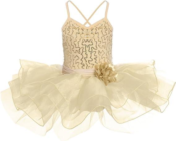 Girls Kids Princess Gym Ballet Dance Party Tutu Dress Leotard Dancewear Costume