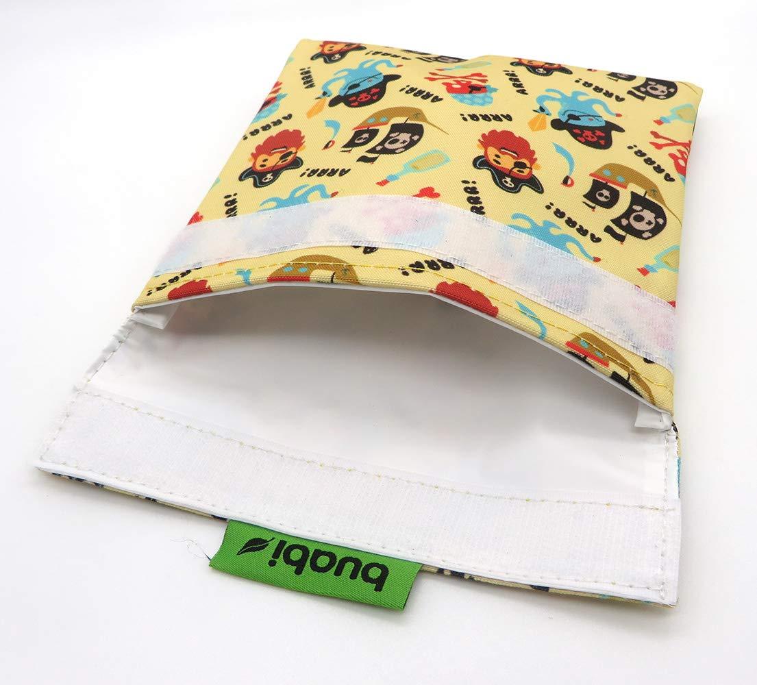 Bolsa merienda Infantil Envoltorio T/érmico de Tela Reutilizable ecol/ógico sin BPA Porta Bocadillos y Sandwich Piratas y Ninja