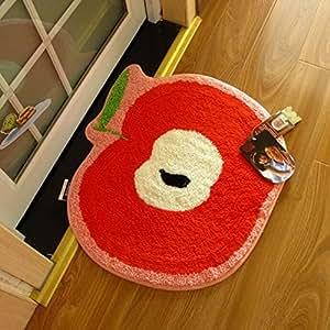 Ustide Cute Apple Rug Carpet Vivid Apple Shaped Design Children 39 S Bedroom Rug Anti