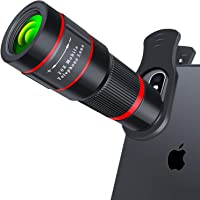 Cell Phone Camera Lens, 20X Zoom Telephoto Lens, HD Smartphone Lens for iPhone, Samsung, Android, Monocular Telescope
