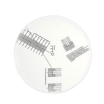 Catyrre - Placa de calibración de Vinilo, Antideslizante ...