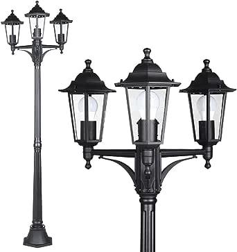 Monzana Farola de jardín luz iluminación de Patio terraza Exterior Willow Antracita Resistente 60W Ajustable 1760x530mm: Amazon.es: Iluminación