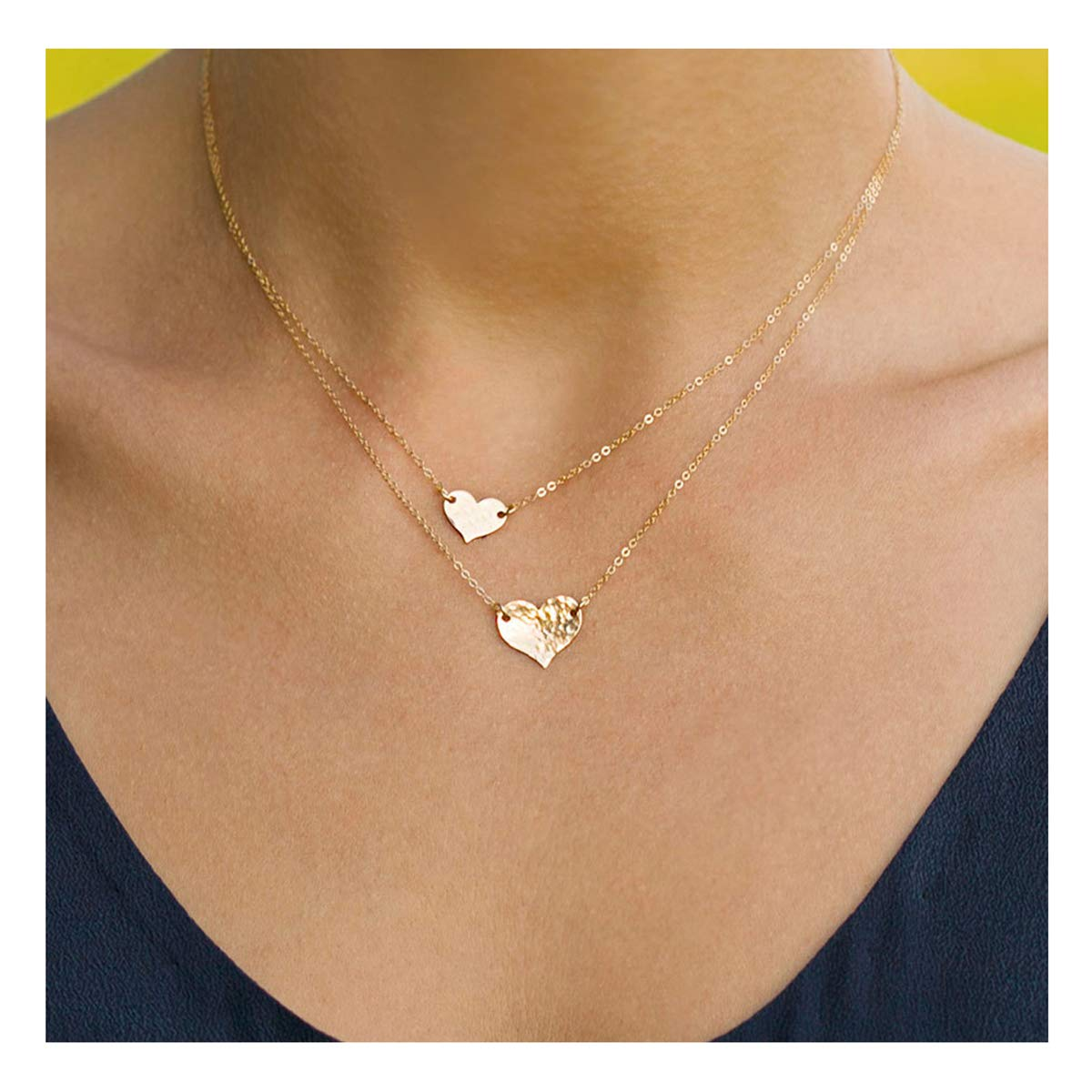 639d4006936 Amazon.com: VACRONA Gold Layered Heart Pendant Necklaces, 18K Gold Filled  Tiny Choker Dainty Cute Handmade Pendants Necklaces Jewelry for Women:  Jewelry