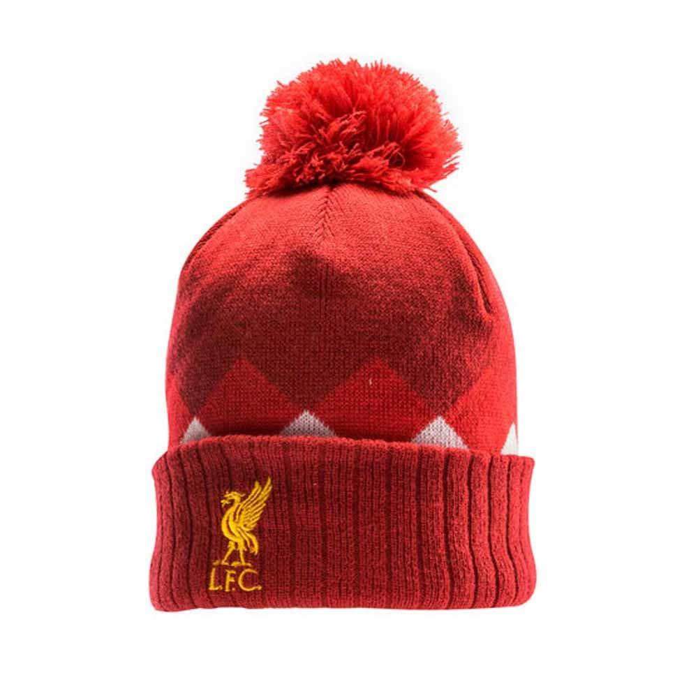 Liverpool FC 17 18 Anniversary Fleece Beanie - Red Pepper  Amazon.co.uk   Clothing 3dad59ec8753