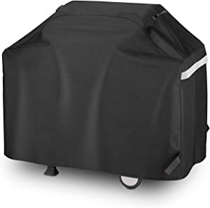 Utheer 65 Inch Gas Grill Cover for Nexgrill 720-0896B 720-0898 720-0882A 720-0898A, UV Fade Resistant BBQ Cover for Collapsed Side Tables Weber Char-broil 463278418 Nexgrill Brinkmann Kenmore Dyna-Glo