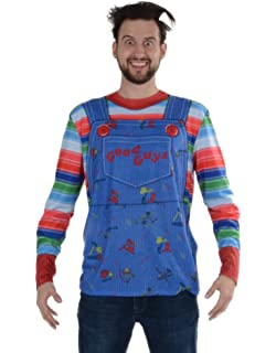 Faux Real Mens Chucky Long Sleeve Tee Shirt,