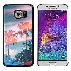 Exotic-Star ( Trees Magic Summer Sky ) Fundas Cover Cubre Hard Case Cover para Samsung Galaxy S6 EDGE / SM-G925 / SM-G925A / SM-G925T / SM-G925F / SM-G925I