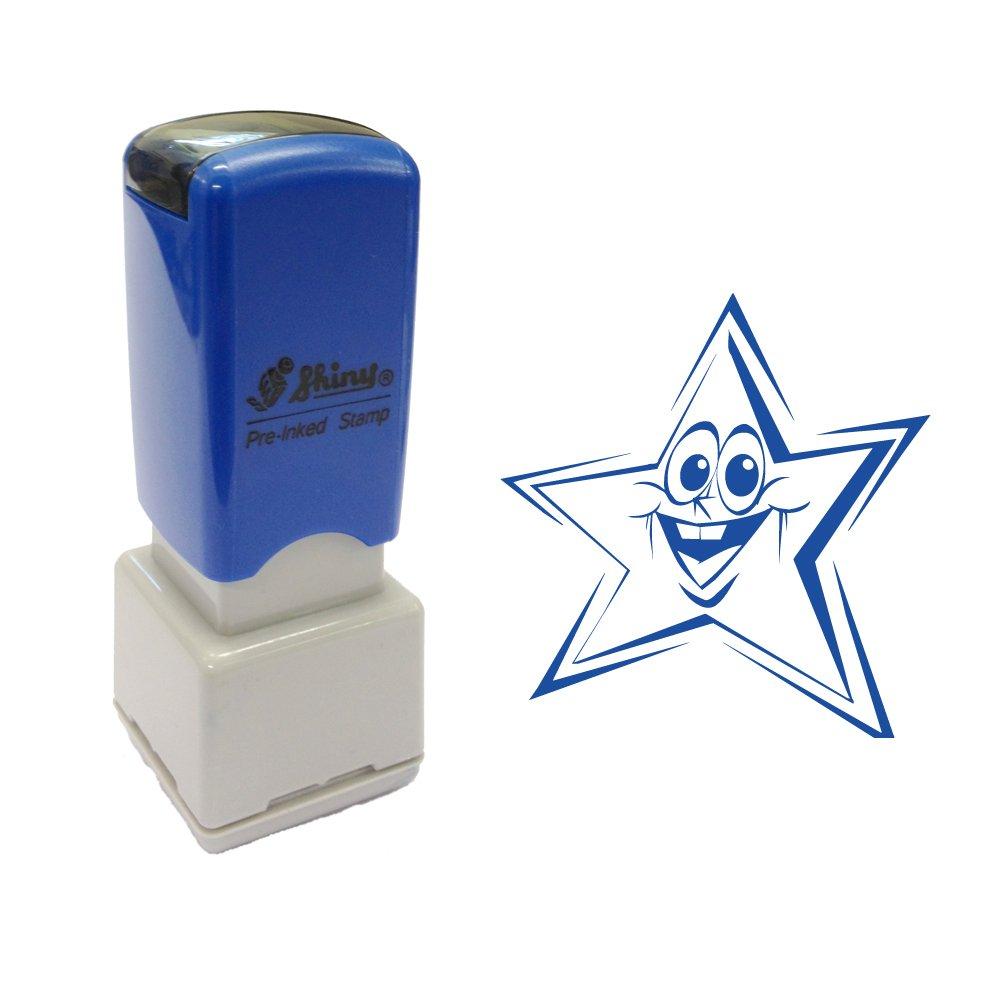 Timbro auto-inchiostrante per insegnanti, con stella sorridente Stamps Direct