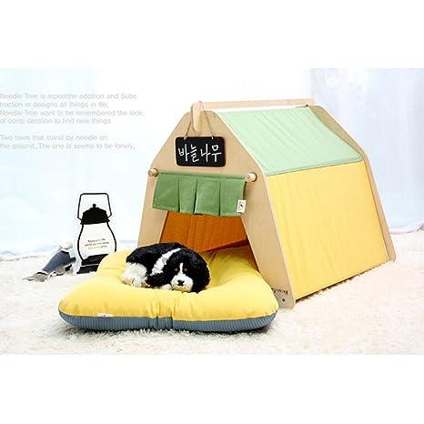 shanzhizui Nido de Mascotas Casa del Gato Perros pequeños y medianos Casa del Gato Perrera Yurt Grande Extraíble y Lavable, S: Amazon.es: Productos para ...