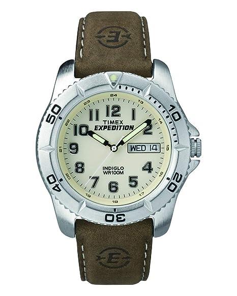 a6ce32bb9086 Timex T46681 Expedition Reloj tradicional para hombre con correa de piel  café