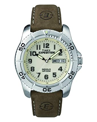 cf1593e60805 Amazon.com  Timex Men s T46681 Expedition Traditional Brown Leather ...