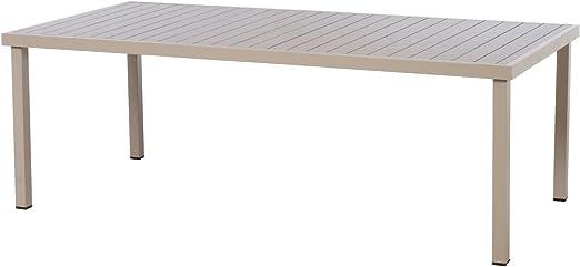 HESPERIDE Table de Jardin rectangulaire Piazza Aluminium 8 ...