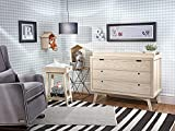 Simply Nursery Retro 3-Drawers Wood Chest | Natural Washed Finish | Modern Design