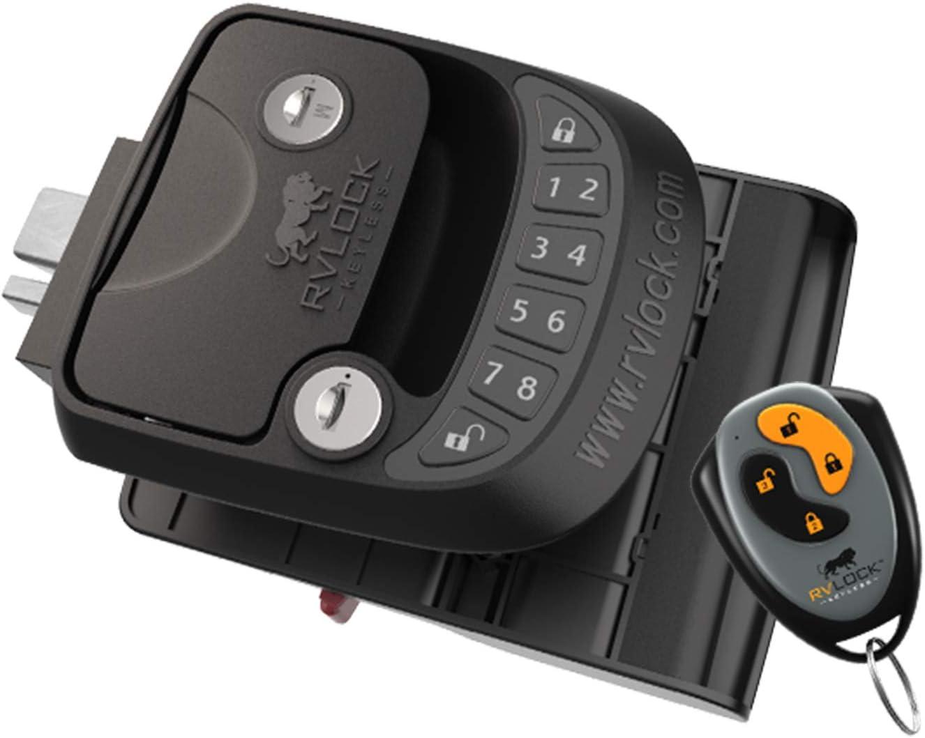 RVLock Key Fob and RH Compact Keyless RV Door Lock