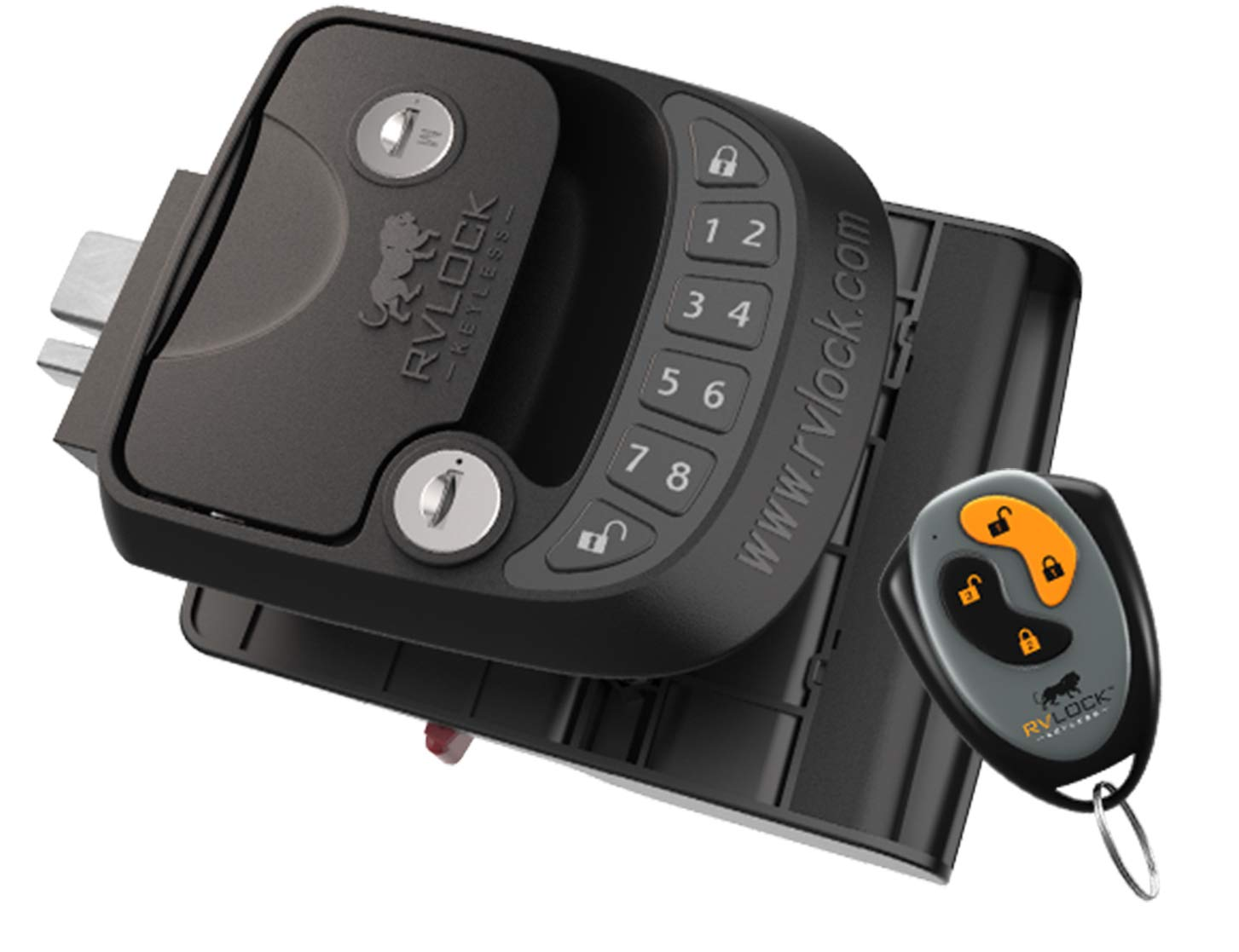 RVLock Compact Keyless Entry Handle w/Integrated Keypad System & Remote Fob