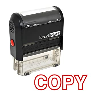 excelmark copy self inking rubber stamp red ink 42a1539web r