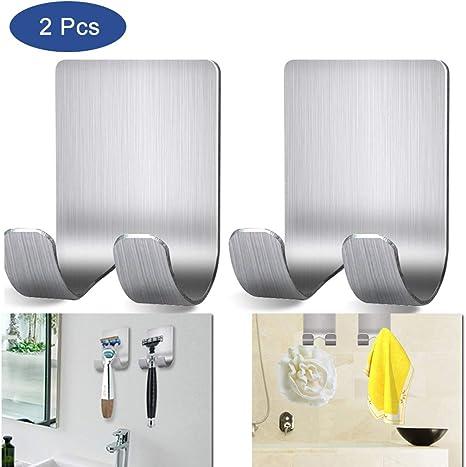 Self Adhesive Razor Holder Hook Shower Shaver Hanger Stainless Steel Wall Hooks