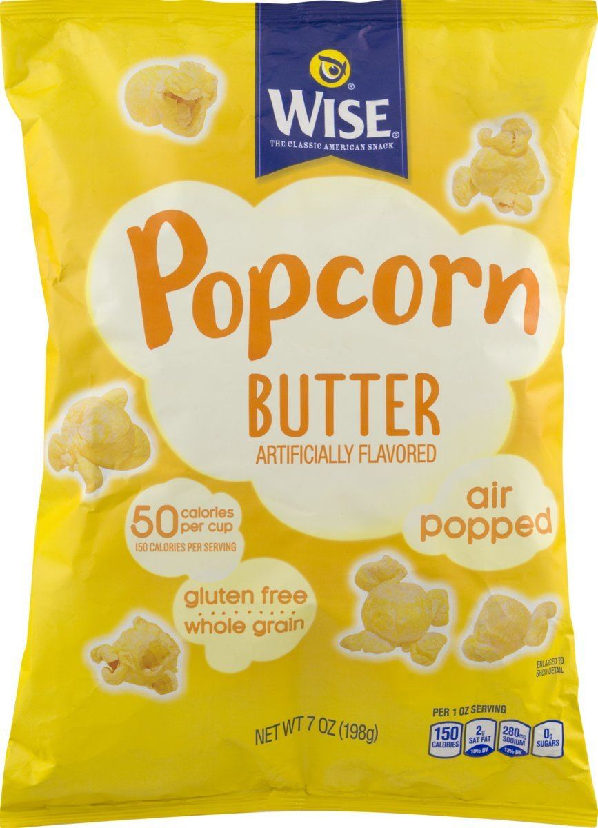 Wise Foods Air Popped Butter Popcorn 6 oz. Bag (3 Bags)