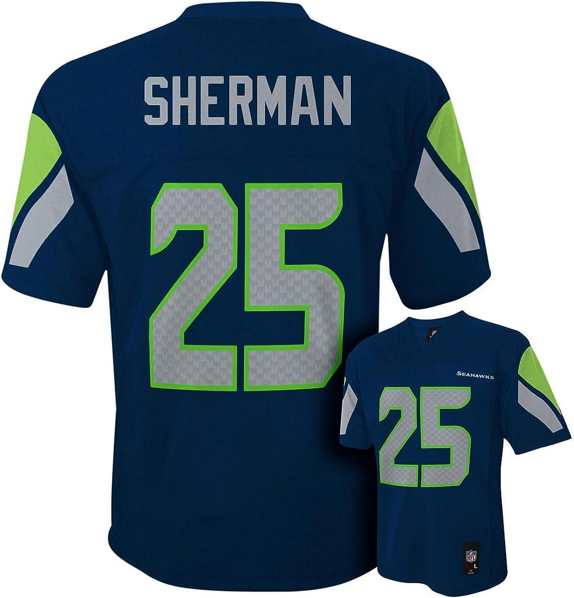 Richard Sherman Seattle Seahawks #25 Navy NFL Infants Home Mid Tier Jersey