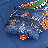 Sports Coverage NCAA Florida Gators All Over Toss Pillow, 17'' x 17'', Bright Blue