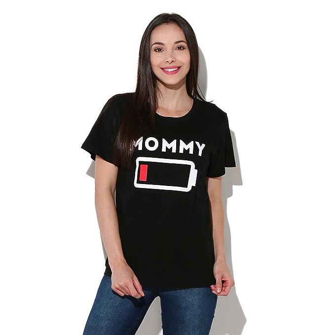 Allecne Familien Outfit Kurzarm T Shirt Mutter Vater Kind