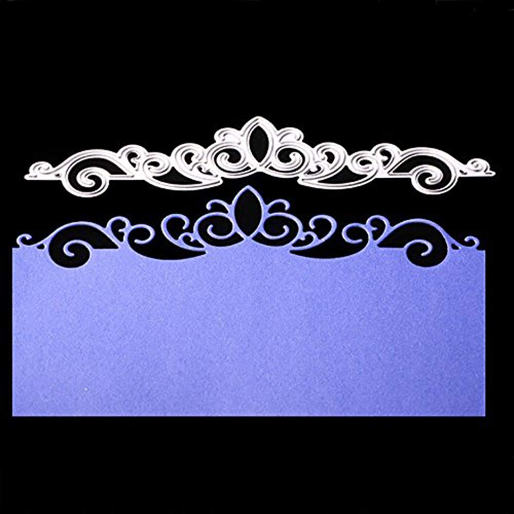 Hongxin Crown Lace Metal Cutting Dies Embossing Die Cuts Scrapbooking Dies Metal Cut For Card Album Decoration Flower Crown For Card New Year Present DIY Wedding Valentine's Greeting Card by Hongxin-cutting dies (Image #1)