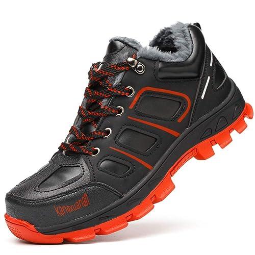 COOU Zapatos de Seguridad Invierno para Hombre Impermeables Comodos S3 Botas de Seguridad Obrero Calzado de Trabajo: Amazon.es: Zapatos y complementos
