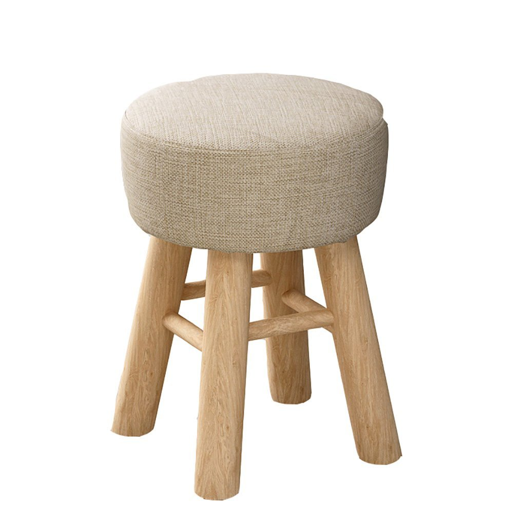 E 2943cm EU90 Home stool fashion creative small bench solid wood small chair sofa stool multifunctional seat - small stool (color   B, Size   29  43cm)