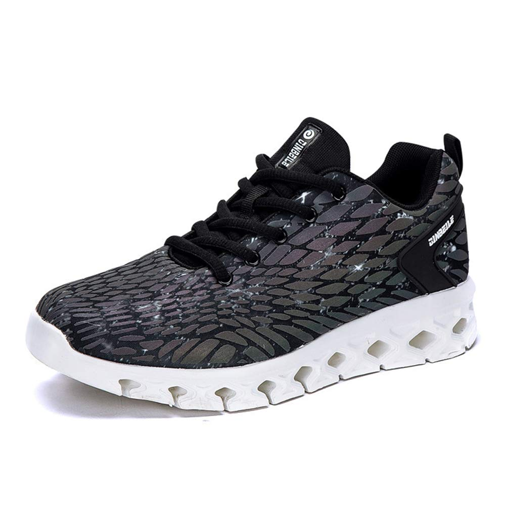 Black Men Breathable Lightweight Running shoes, Fitness Training Sneakers, Leisure Mesh Soft Sports shoes, Tourism, Walk, on Foot