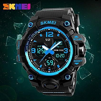 Reloj Digital de Pulsera para Hombre con cronógrafo y Alarma de Doble Hora (50 m